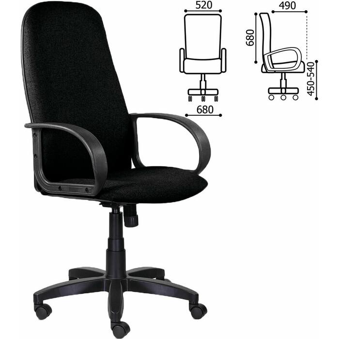 Кресло офисное Brabix Praktik EX-279 ткань/кожзам черное 532017