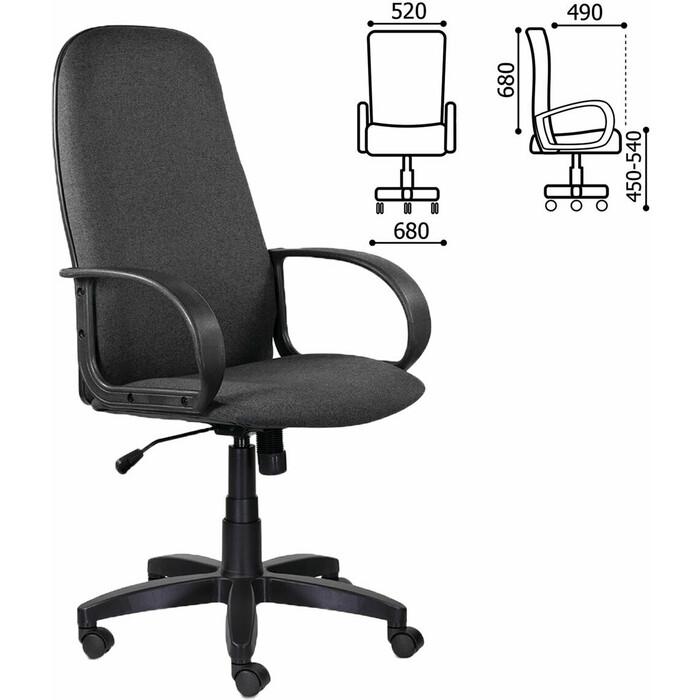 Кресло офисное Brabix Praktik EX-279 ткань/кожзам серое 532018