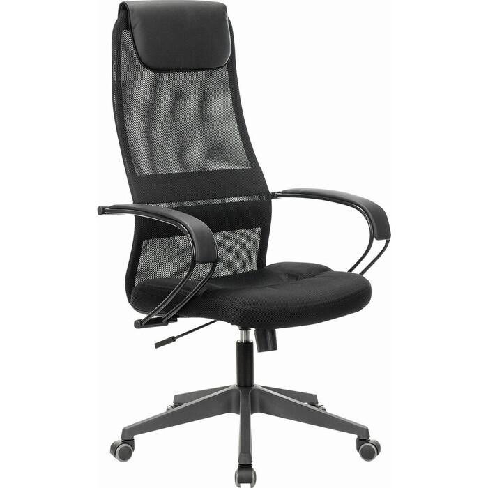 Кресло офисное Brabix Premium Stalker EX-608 PL ткань-сетка/кожзам черное 532090
