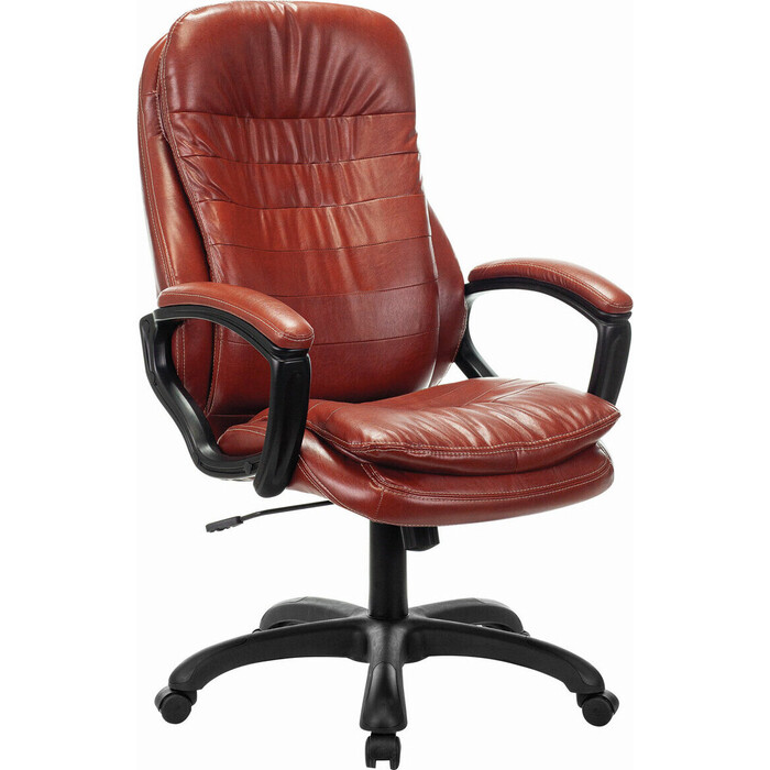Кресло офисное Brabix Premium Omega EX-589 экокожа коричневое 532096