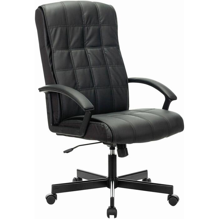 Кресло офисное Brabix Quadro EX-524 экокожа черное 532104 кресло офисное brabix rest ex 555 пружинный блок экокожа черное premium 531938