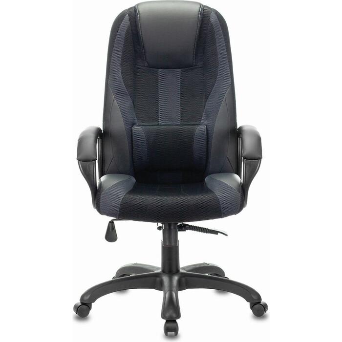 Кресло компьютерное Brabix Premium Rapid GM-102 экокожа/ткань, черное/серое 532105