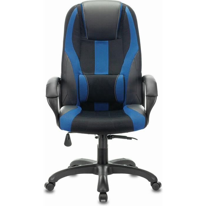 Кресло компьютерное Brabix Premium Rapid GM-102 экокожа/ткань, черное/синее 532106