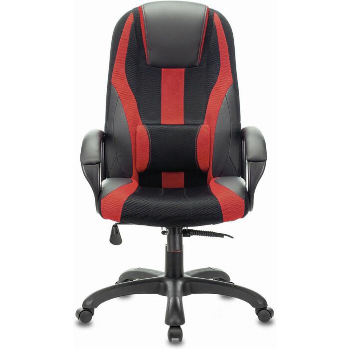 Кресло компьютерное Brabix Premium Rapid GM-102 экокожа/ткань, черное/красное 532107