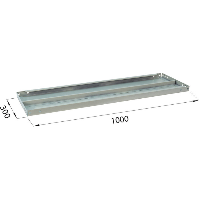 Полка к металлическому стеллажу Brabix MS/MS KD 100х30 2 шт с фурнитурой 291122, S241BR203102