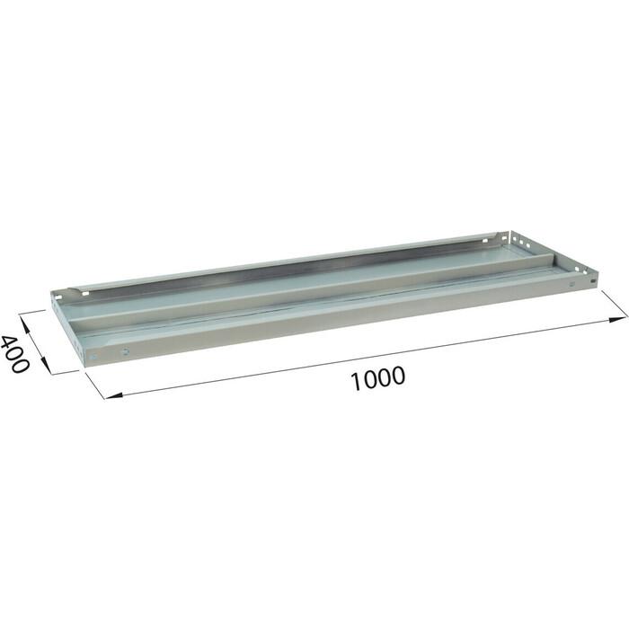 Полка к металлическому стеллажу Brabix MS/MS KD 100х40 2 шт с фурнитурой 291123, S241BR204102