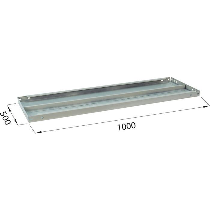 Полка к металлическому стеллажу Brabix MS/MS KD 100х50 2 шт с фурнитурой 291124, S241BR205102