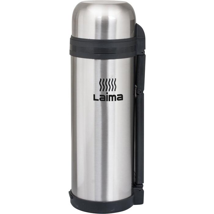 Термос Лайма Классический с узким горлом, 1,8 л, нержавеющая сталь, пластиковая ручка 601405