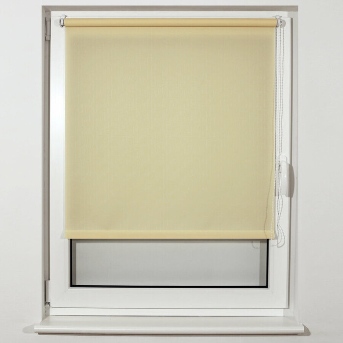 Штора рулонная Brabix 80x175 см текстура лен, защита 55-85%, 200 г/м 2 кремовый S-21 605993