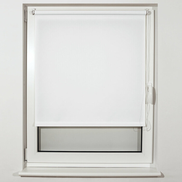 Штора рулонная Brabix 80x175 см текстура лен, защита 55-85%, 200 г/м 2 белый S-5 605995