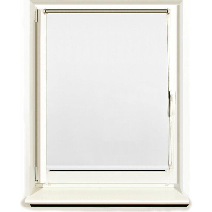 Штора рулонная светонепроницаемая (Блэкаут) Brabix 70x175 см белый/серебро 606010