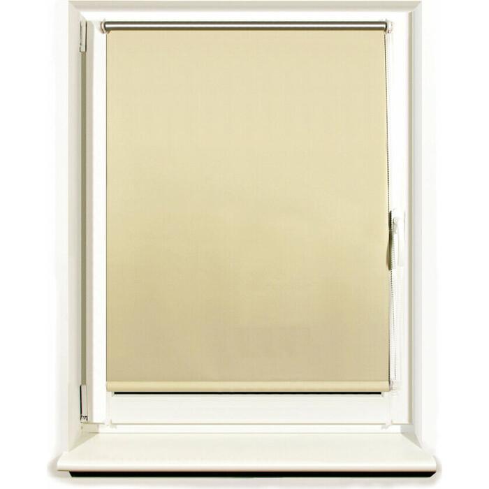 Штора рулонная светонепроницаемая (Блэкаут) Brabix 80x175 см кремовый/серебро 606014