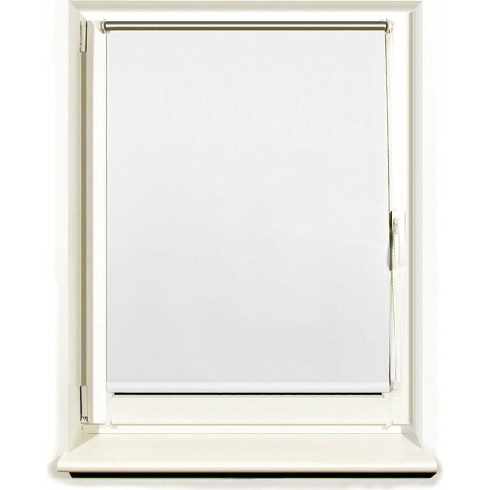 Штора рулонная светонепроницаемая (Блэкаут) Brabix 100x175 см белый/серебро 606015
