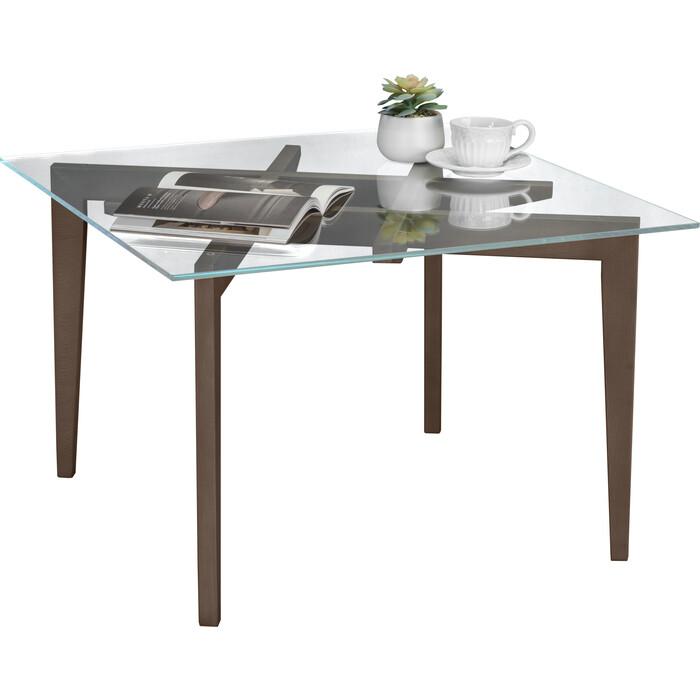 Стол журнальный Мебелик Рилле 442 шимо/прозрачное