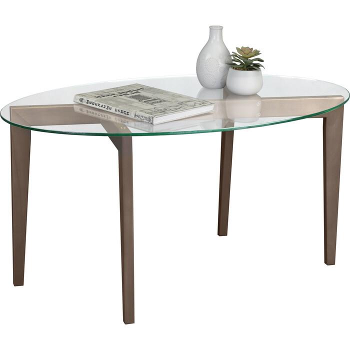 Стол журнальный Мебелик Рилле 444 шимо/прозрачное