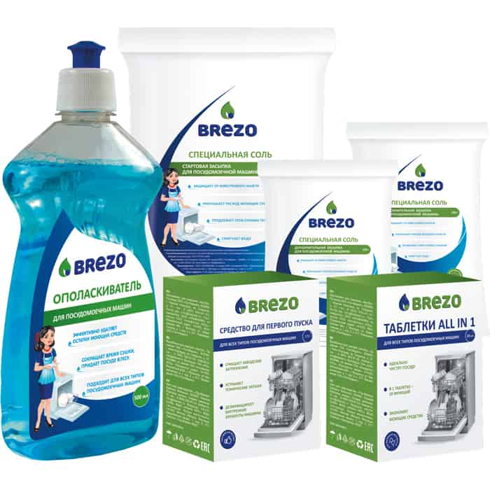 Стартовый набор Brezo для посудомоечной машины