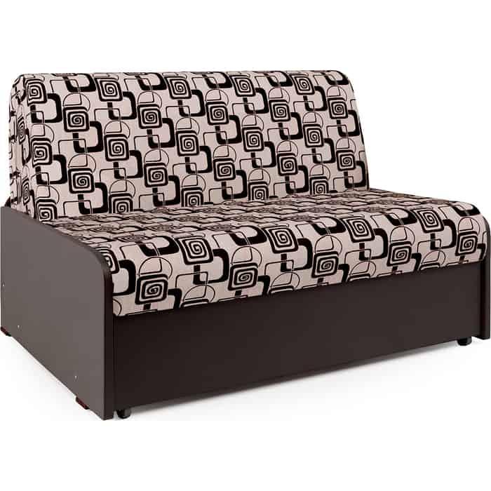 Фото - Диван-кровать Шарм-Дизайн Коломбо БП 100 шенилл ромб и экокожа шоколад диван кровать шарм дизайн коломбо бп 140 шенилл серый и экокожа черный