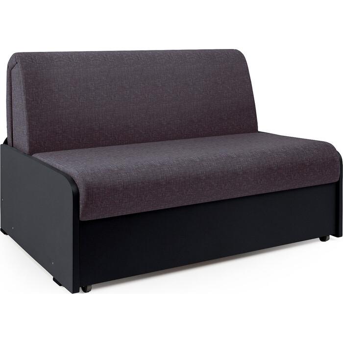 Диван-кровать Шарм-Дизайн Коломбо БП 100 серая рогожка и экокожа черный