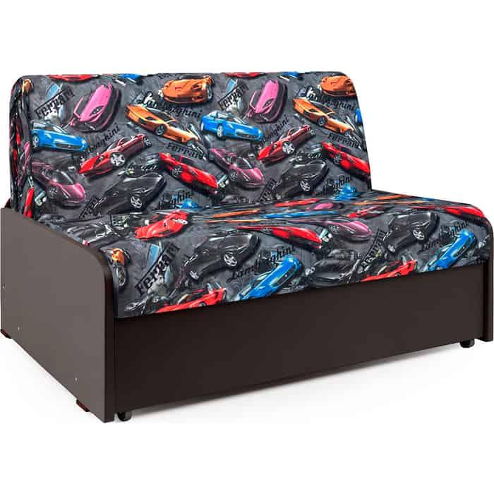 Диван-кровать Шарм-Дизайн Коломбо БП 100 машинки и экокожа шоколад