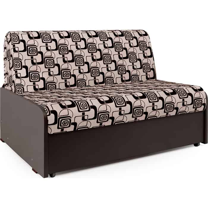 Фото - Диван-кровать Шарм-Дизайн Коломбо БП 140 шенилл ромб и экокожа шоколад диван кровать шарм дизайн коломбо бп 140 шенилл серый и экокожа черный
