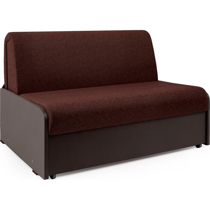 Диван-кровать Шарм-Дизайн Коломбо БП 140 рогожка шоколад и экокожа
