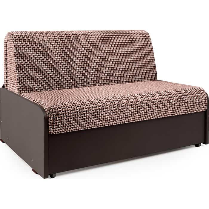 Фото - Диван-кровать Шарм-Дизайн Коломбо БП 140 Корфу коричневый и экокожа шоколад диван кровать шарм дизайн коломбо бп 140 шенилл серый и экокожа черный