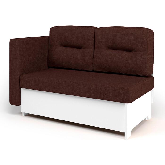 Кушетка Шарм-Дизайн Гамма 120 левый белый и шоколад