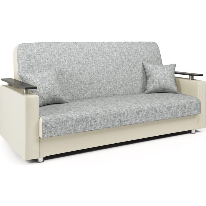 Диван-кровать Шарм-Дизайн Мелодия ДП №2 140 шенил серый и экокожа беж