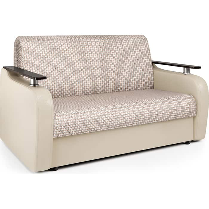 Диван-кровать Шарм-Дизайн Гранд Д 140 Корфу беж и экокожа