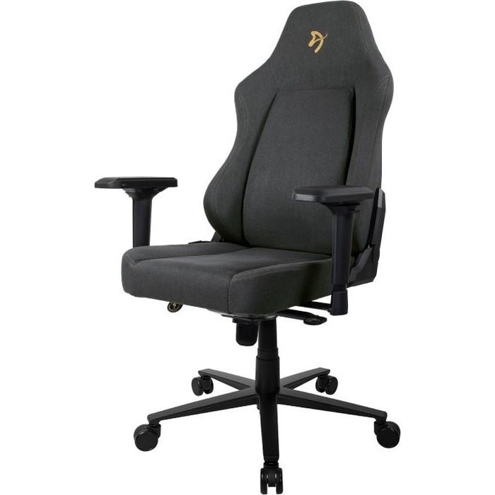 Компьютерное кресло (для геймеров) Arozzi Primo Woven Fabric black-gold logo