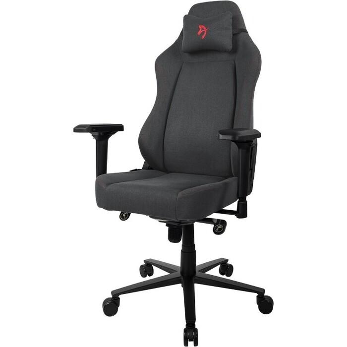 Компьютерное кресло (для геймеров) Arozzi Primo Woven Fabric black-red logo