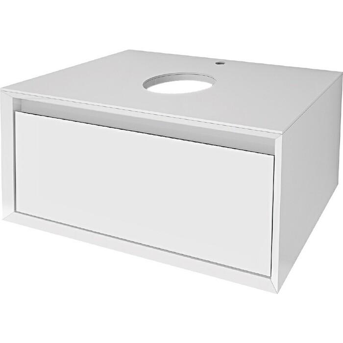 Тумба под раковину Dreja Insight 80 подвесная, белый глянец (99.9200)
