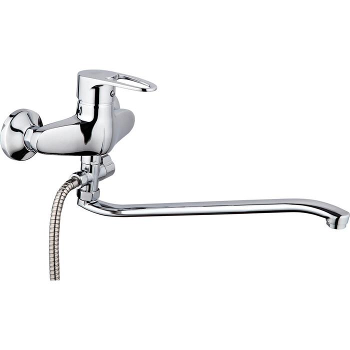 Смеситель для ванны РМС SL52 с душем, хром (SL52-006)