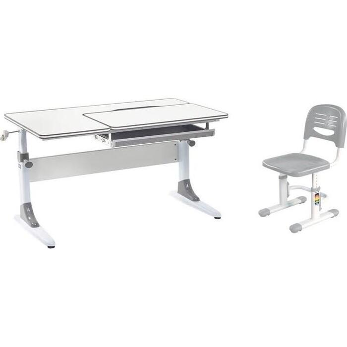 Комплект FunDesk Парта Grato grey + стул SST3