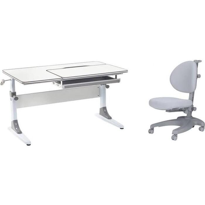 Комплект FunDesk Парта Grato grey + стул Cielo