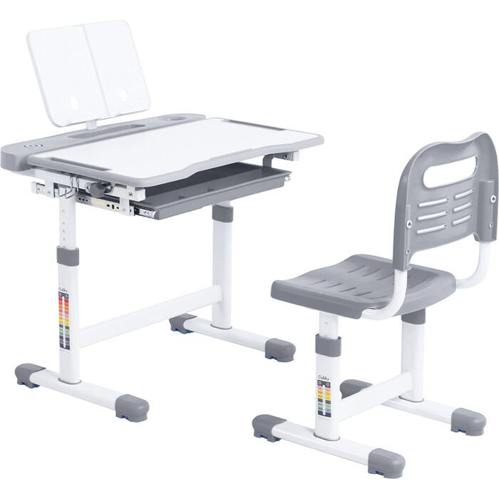 FunDesk Комплект парта + стул трансформеры Vanda Grey Cubby