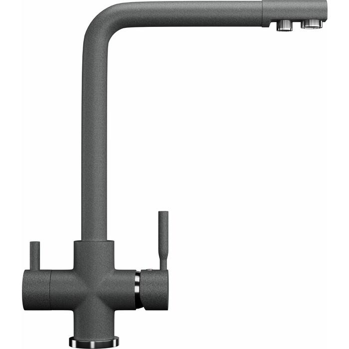 Смеситель для кухни Ganza GN-08 с подключением к фильтру, темно-серый (GN-08-908)