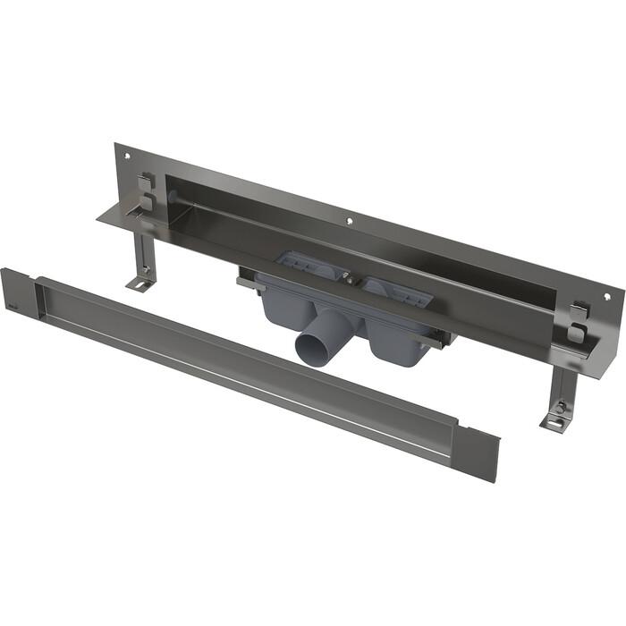 Душевой лоток AlcaPlast Spa для монтажа в стену, с планкой под кладку плитки (APZ5-TWIN-750)