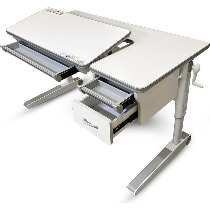 Детский стол Mealux Sherwood XL BD-860 W с ящиками столешница белая