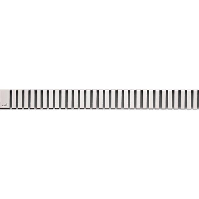 Решетка AlcaPlast Line нержавеющая сталь глянцевая (LINE-1450L)