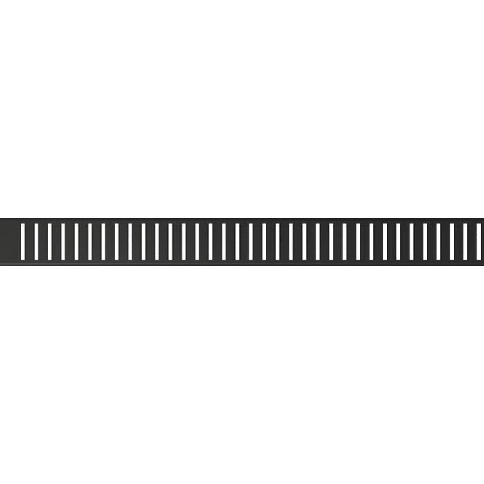 Решетка AlcaPlast Pure Black черный матовая (PURE-1050BLACK)