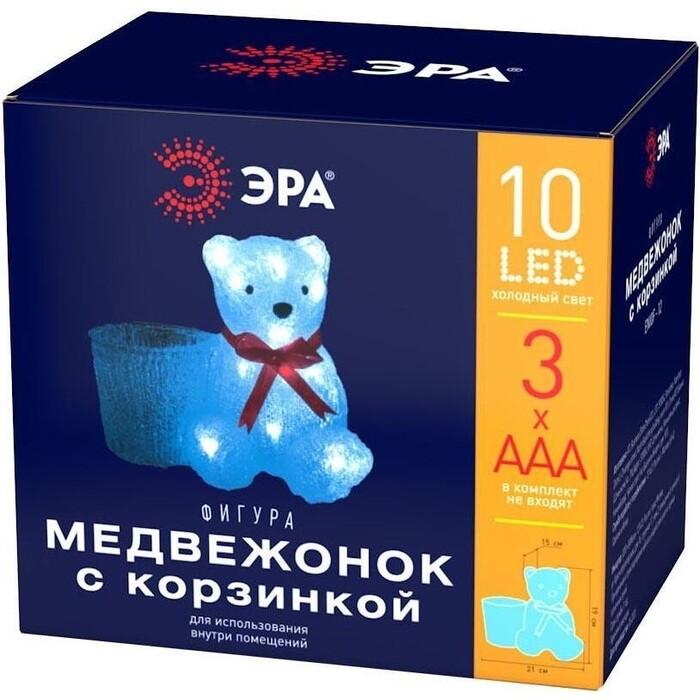 Фигура ЭРА Светодиодная медвежонок с корзинкой ENIOF - 12 Б0047974