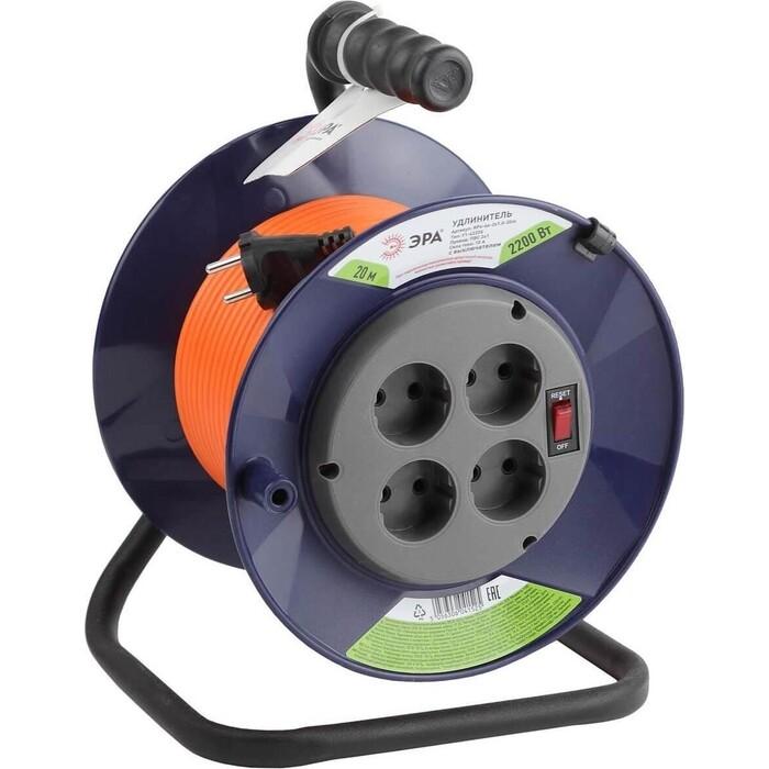 Удлинитель ЭРА силовой RPx-4s-2x1.0-20m Б0043050 удлинитель эра силовой rpx 1 2x0 75 20m б0043042