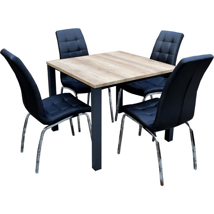 Набор мебели Garden story Лори черный K-170/W-120 бежевый/черный