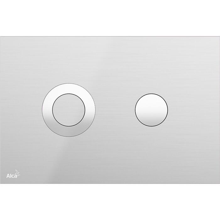 Кнопка смыва AlcaPlast Turn нержавеющая сталь (TURN-INOX)