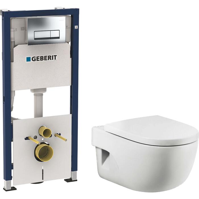 Комплект унитаза Roca Meridian с инсталляцией, кнопкой, сиденьем микролифт (346248000, 8012AC00B, 458.128.21.1)