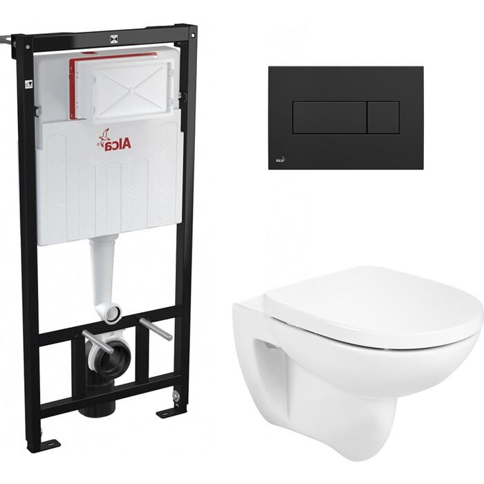 Комплект унитаза Roca Debba Round с инсталляцией, кнопкой, сиденьем микролифт (346998000, 801B2200B, AM101/1120, M378)