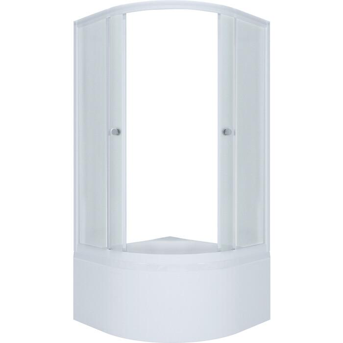 Душевой уголок Triton Эко New Б90х90 рифленое стекло, белый профиль (Щ0000039154)