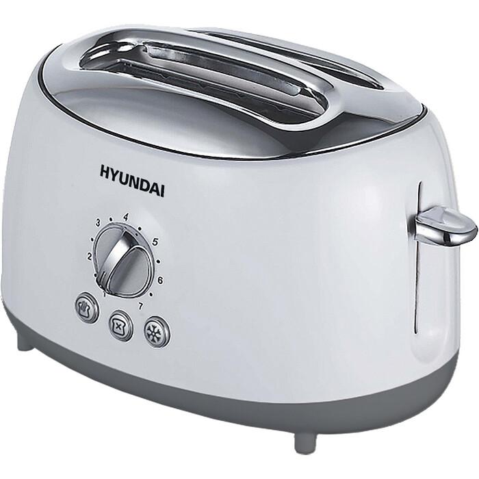 Тостер Hyundai HYT-8003 700Вт белый/серый