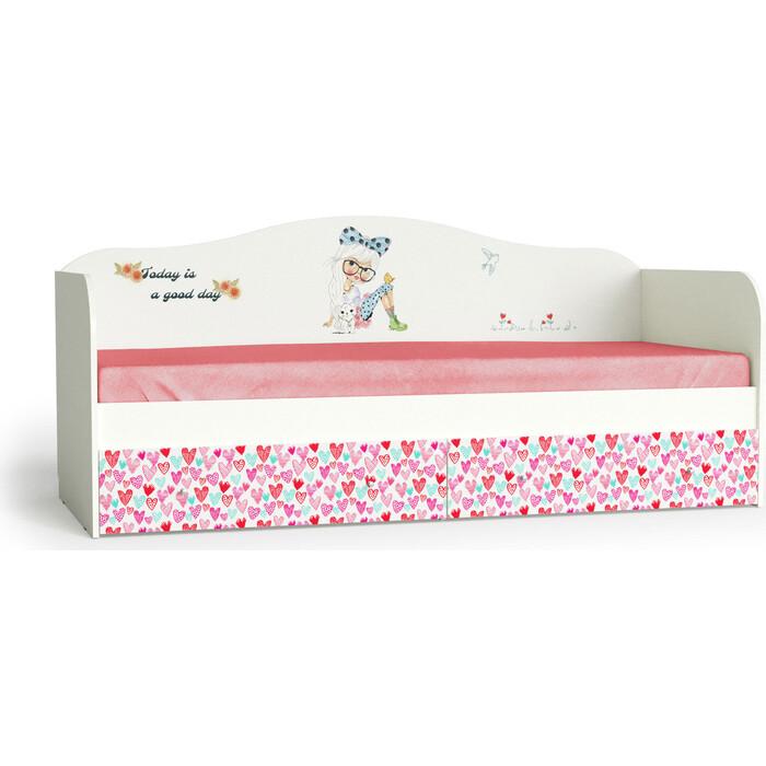 Мама Кровать для детской Девочки корпус белый